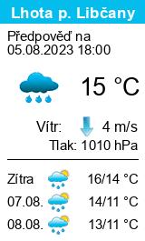 Počasí Lhota pod Libčany - Slunečno.cz