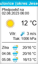 Počasí Mikulovice (okres Jeseník) - Slunečno.cz