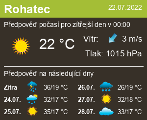 Počasí Rohatec - Slunečno.cz