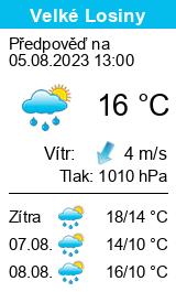 Počasí Velké Losiny - Slunečno.cz
