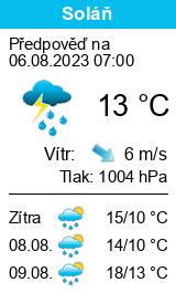 Počasí Soláň - Slunečno.cz