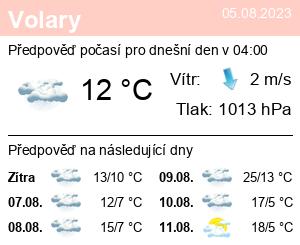 Počasí Volary - Slunečno.cz
