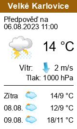 Počasí Velké Karlovice
