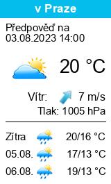 Po�as� Praha 1 - Slune�no.cz