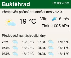 Počasí Buštěhrad - Slunečno.cz