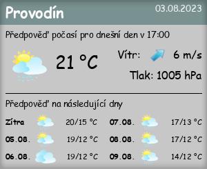 Počasí Provodín - Slunečno.cz