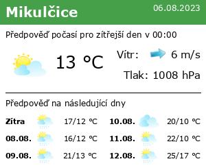 Počasí Mikulčice - Slunečno.cz