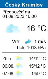 Počasí Český Krumlov