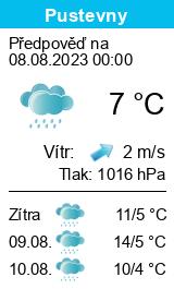 Počasí Pustevny - Slunečno.cz