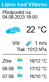 Počasí Lipno nad Vltavou
