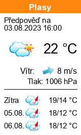 Počasí Plasy - Slunečno.cz