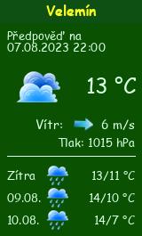 Počasí Velemín - Slunečno.cz